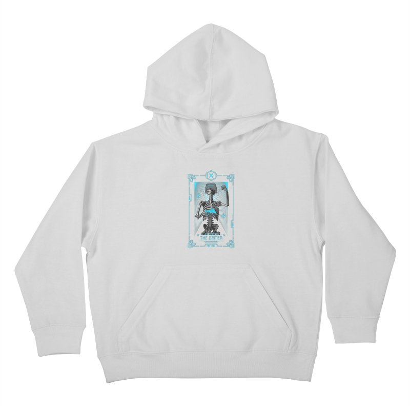The Gamer X Tarot Card Kids Pullover Hoody by Grandio Design Artist Shop