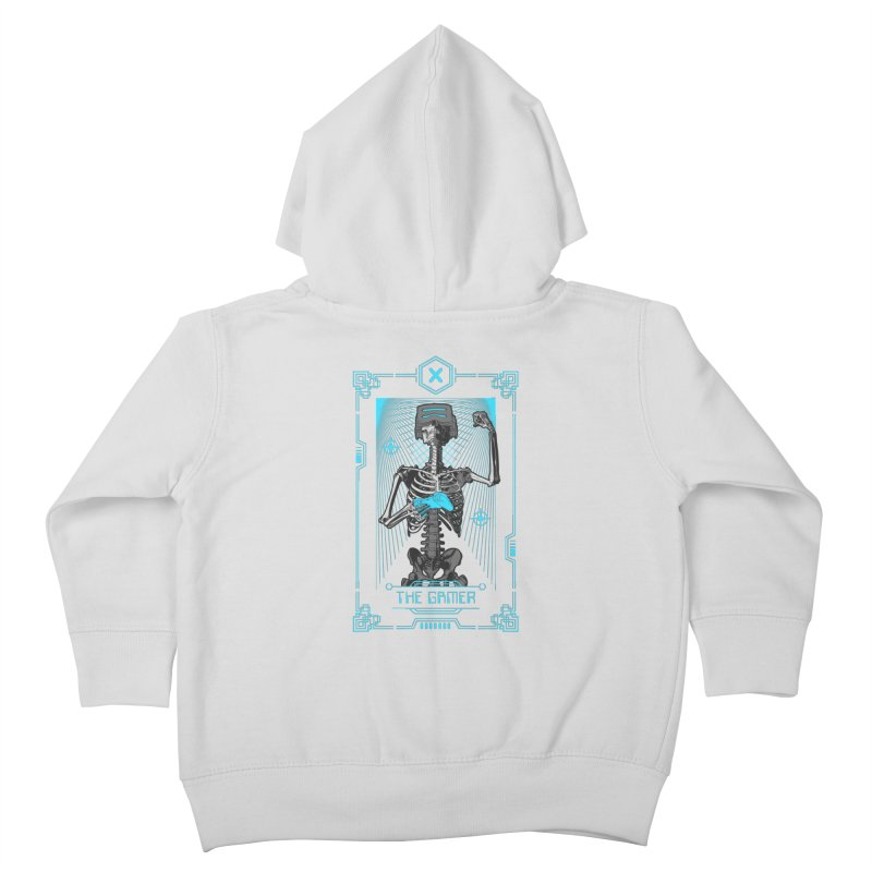 The Gamer X Tarot Card Kids Toddler Zip-Up Hoody by Grandio Design Artist Shop