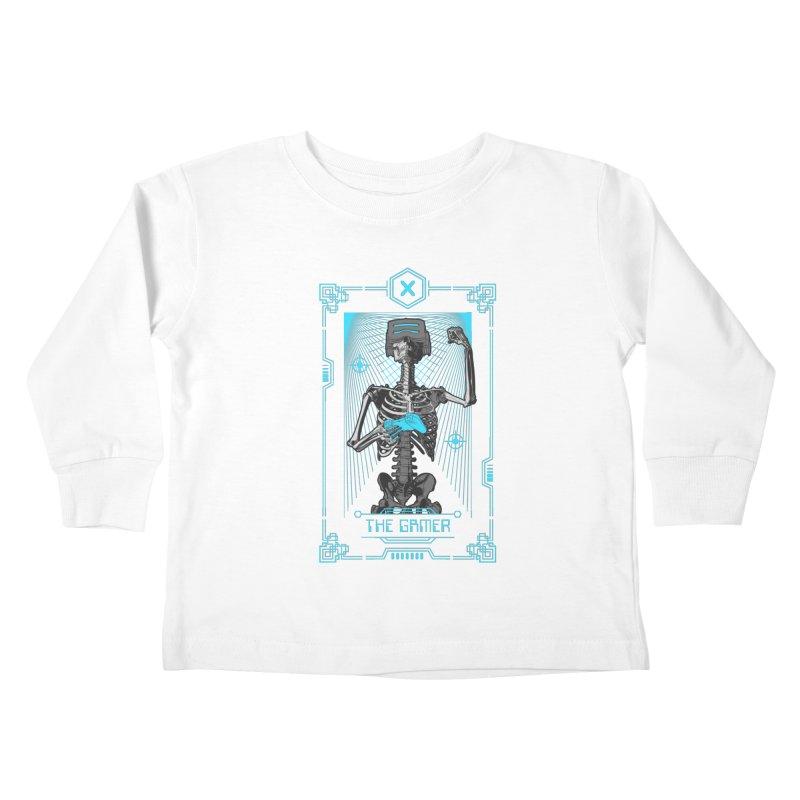 The Gamer X Tarot Card Kids Toddler Longsleeve T-Shirt by Grandio Design Artist Shop