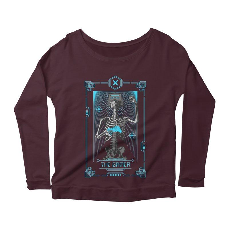 The Gamer X Tarot Card Women's Scoop Neck Longsleeve T-Shirt by Grandio Design Artist Shop