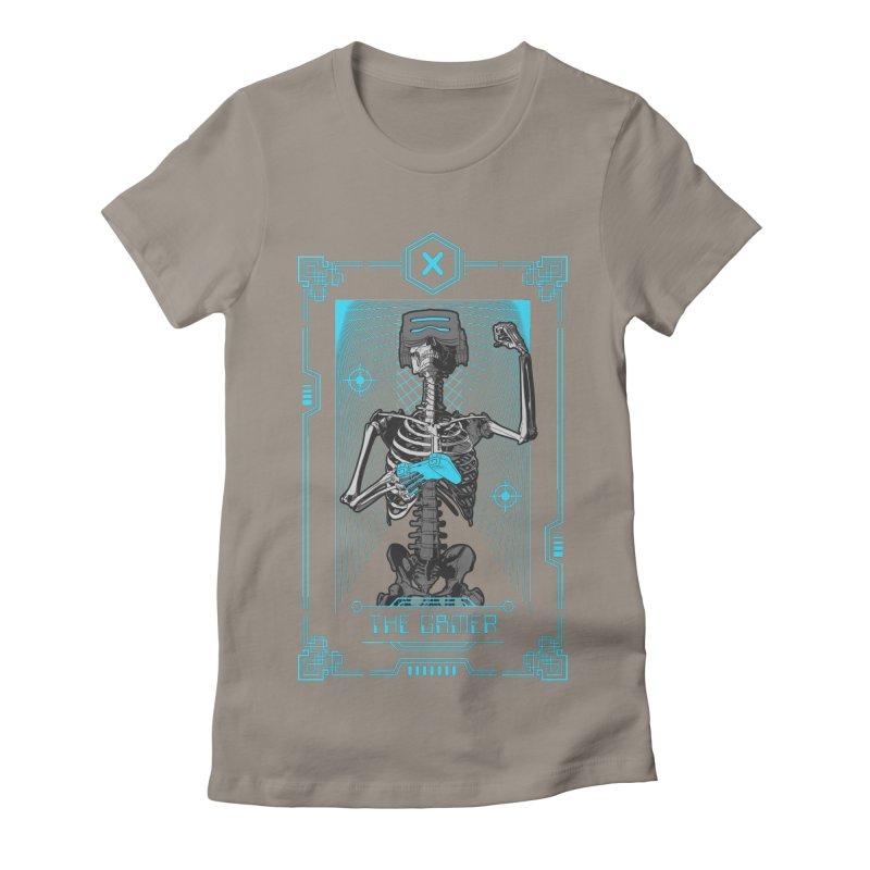 The Gamer X Tarot Card Women's Fitted T-Shirt by Grandio Design Artist Shop