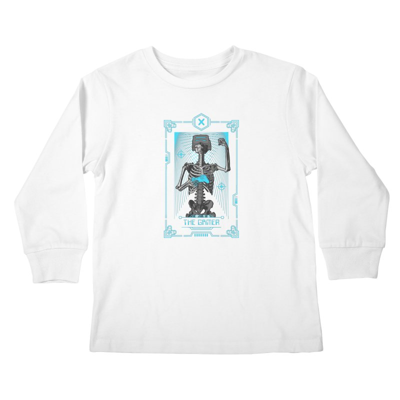 The Gamer X Tarot Card Kids Longsleeve T-Shirt by Grandio Design Artist Shop