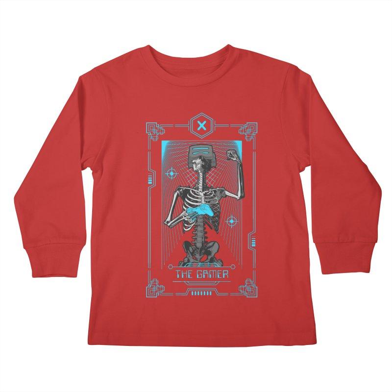 The Gamer X Tarot Card Kids Longsleeve T-Shirt by Grandio Design Artist Shop