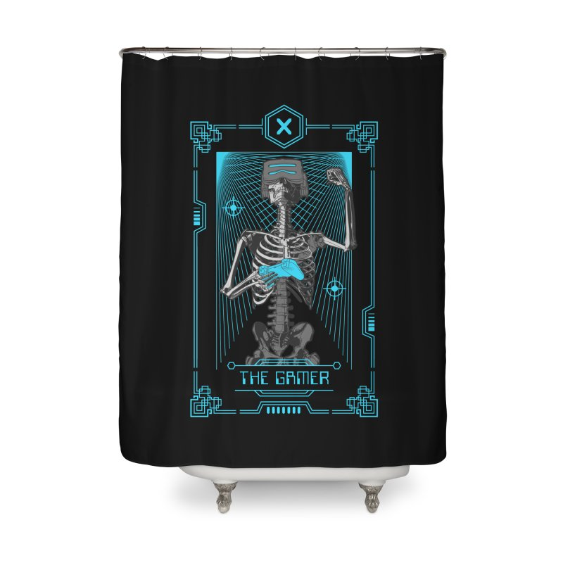 The Gamer X Tarot Card Home Shower Curtain by Grandio Design Artist Shop