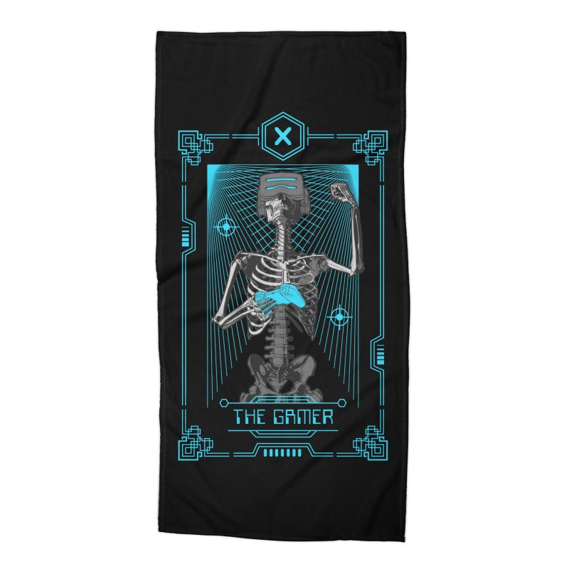 The Gamer X Tarot Card Accessories Beach Towel by Grandio Design Artist Shop