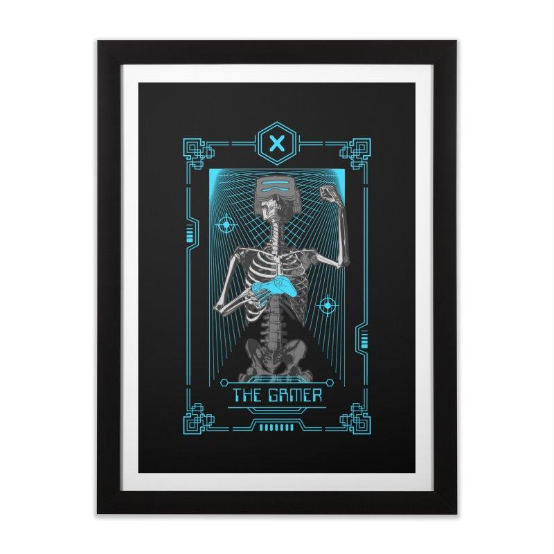 The Gamer X Tarot Card Home Framed Fine Art Print by Grandio Design Artist Shop