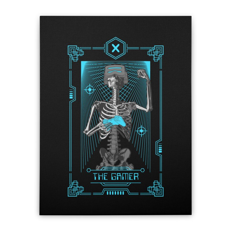 The Gamer X Tarot Card Home Stretched Canvas by Grandio Design Artist Shop