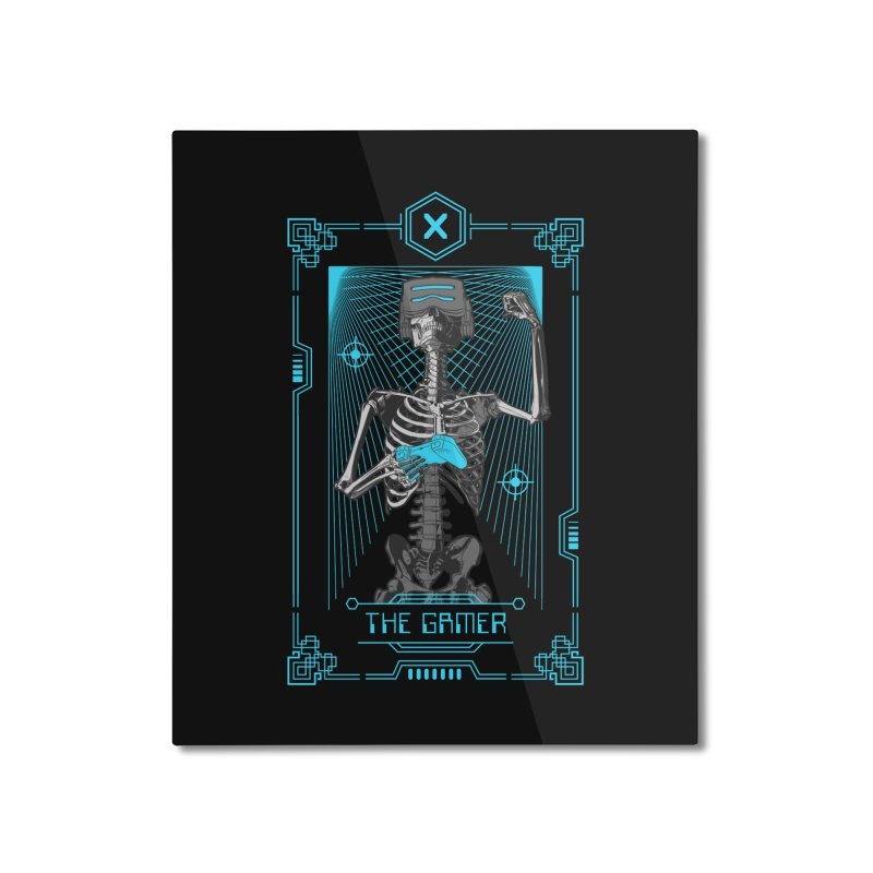 The Gamer X Tarot Card Home Mounted Aluminum Print by Grandio Design Artist Shop