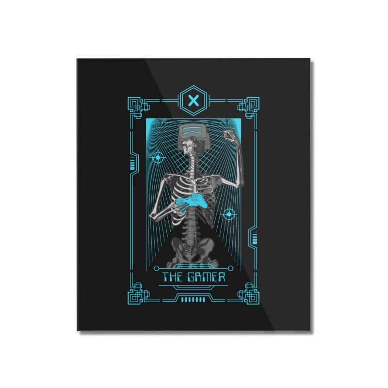 The Gamer X Tarot Card Home Mounted Acrylic Print by Grandio Design Artist Shop