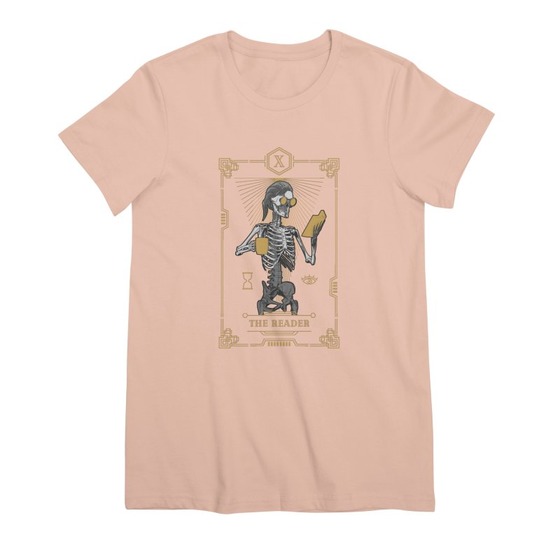 The Reader X Tarot Card Women's Premium T-Shirt by Grandio Design Artist Shop
