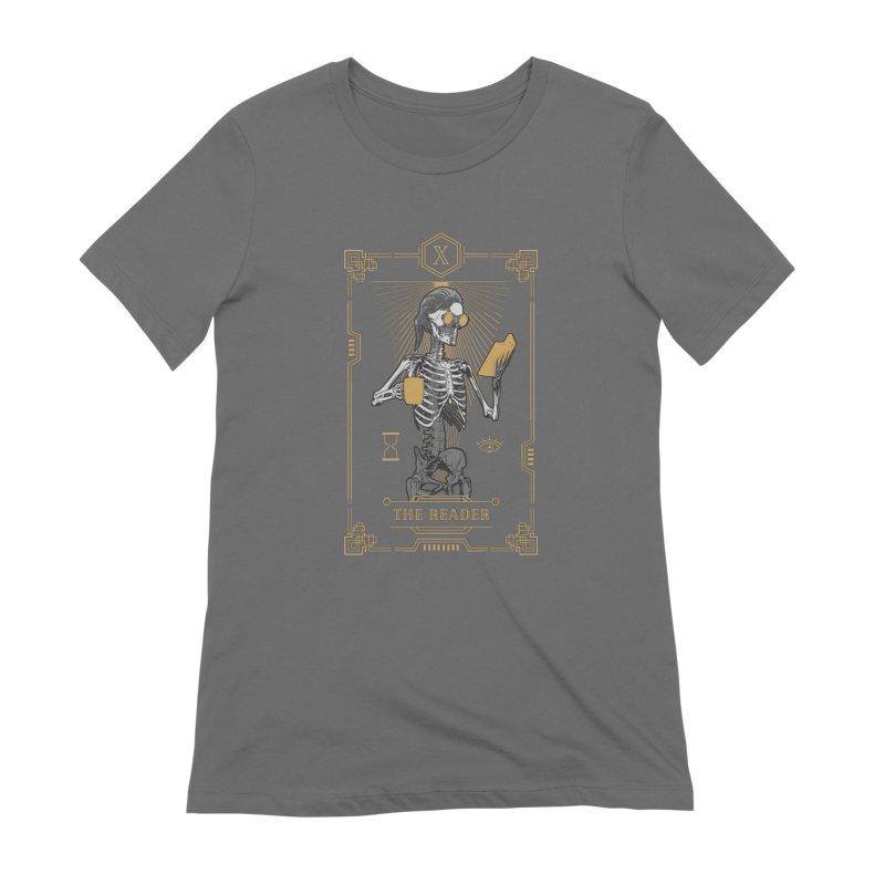 The Reader X Tarot Card Women's Extra Soft T-Shirt by Grandio Design Artist Shop