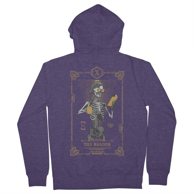 The Reader X Tarot Card Men's French Terry Zip-Up Hoody by Grandio Design Artist Shop
