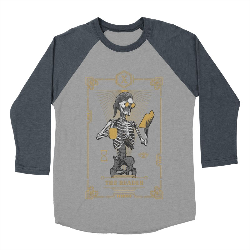 The Reader X Tarot Card Women's Baseball Triblend Longsleeve T-Shirt by Grandio Design Artist Shop