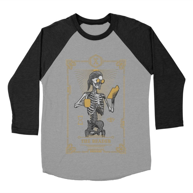 The Reader X Tarot Card Men's Baseball Triblend Longsleeve T-Shirt by Grandio Design Artist Shop