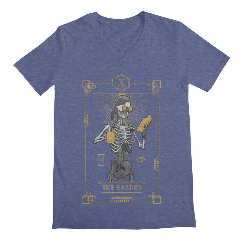 The Reader X Tarot Card Men's Regular V-Neck by Grandio Design Artist Shop