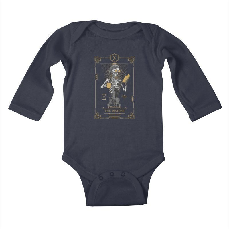 The Reader X Tarot Card Kids Baby Longsleeve Bodysuit by Grandio Design Artist Shop