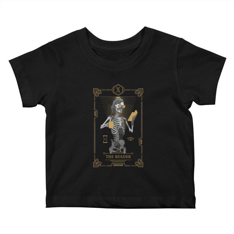 The Reader X Tarot Card Kids Baby T-Shirt by Grandio Design Artist Shop