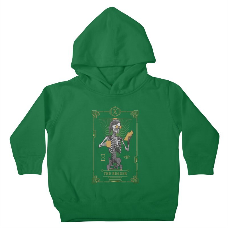 The Reader X Tarot Card Kids Toddler Pullover Hoody by Grandio Design Artist Shop