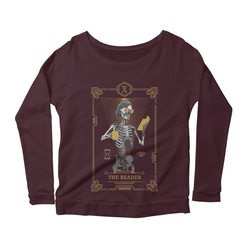 The Reader X Tarot Card Women's Scoop Neck Longsleeve T-Shirt by Grandio Design Artist Shop