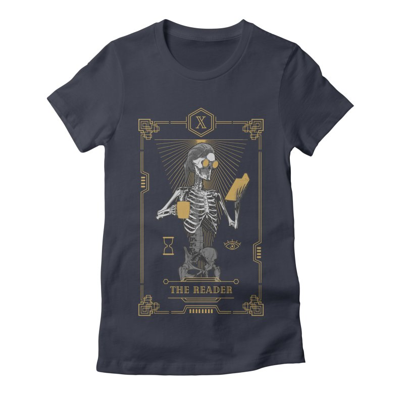 The Reader X Tarot Card Women's Fitted T-Shirt by Grandio Design Artist Shop