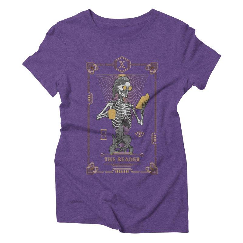 The Reader X Tarot Card Women's Triblend T-Shirt by Grandio Design Artist Shop