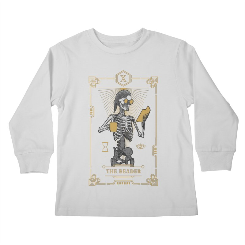 The Reader X Tarot Card Kids Longsleeve T-Shirt by Grandio Design Artist Shop