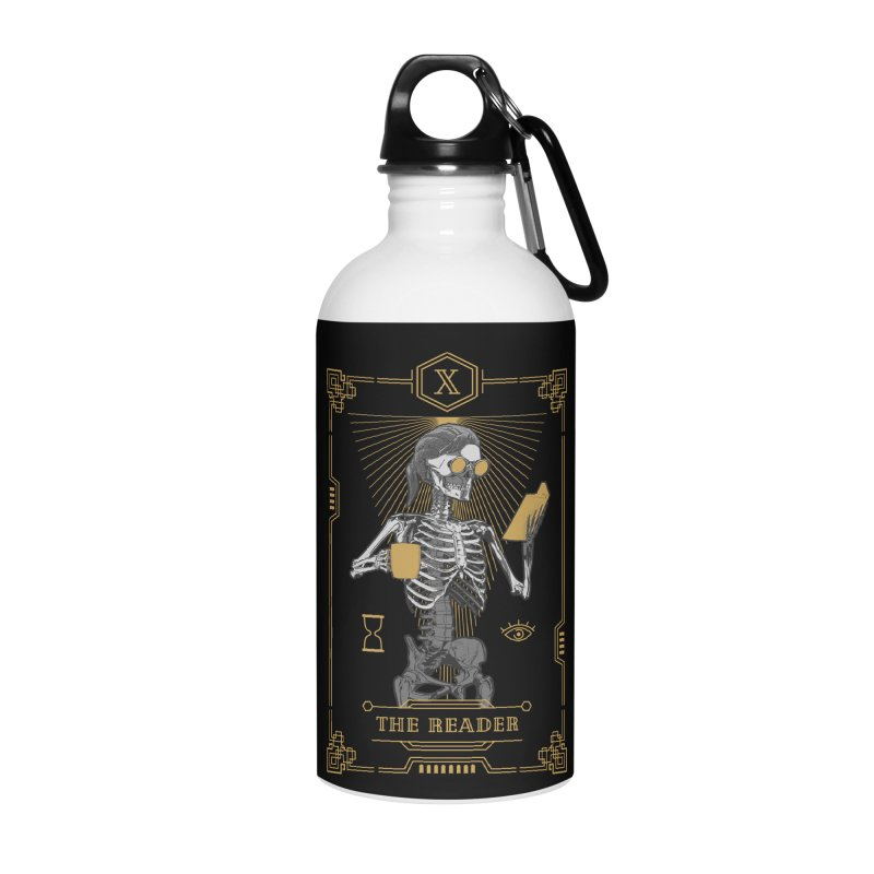 The Reader X Tarot Card Accessories Water Bottle by Grandio Design Artist Shop