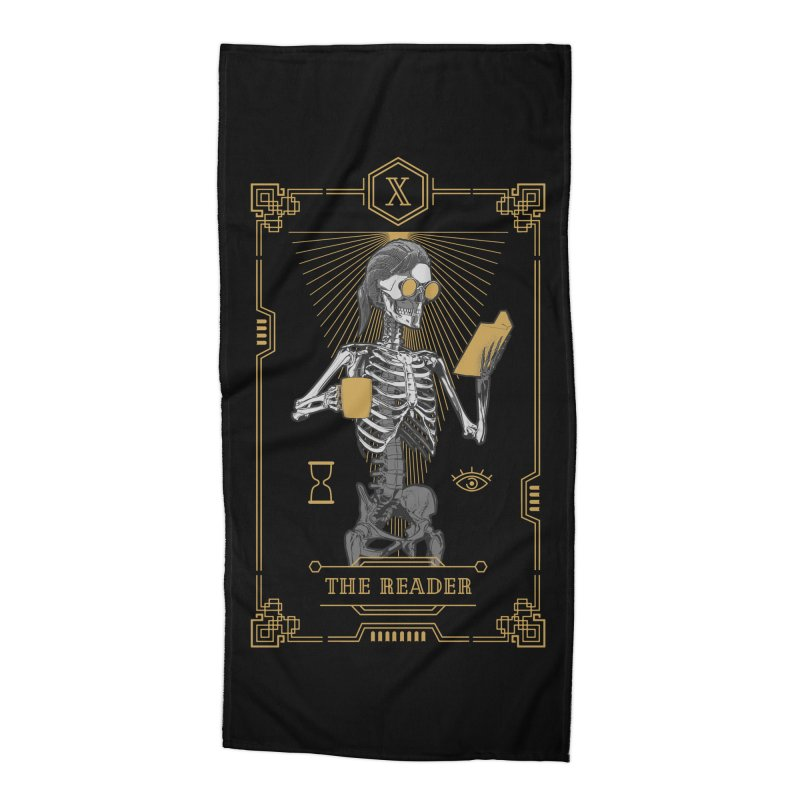 The Reader X Tarot Card Accessories Beach Towel by Grandio Design Artist Shop