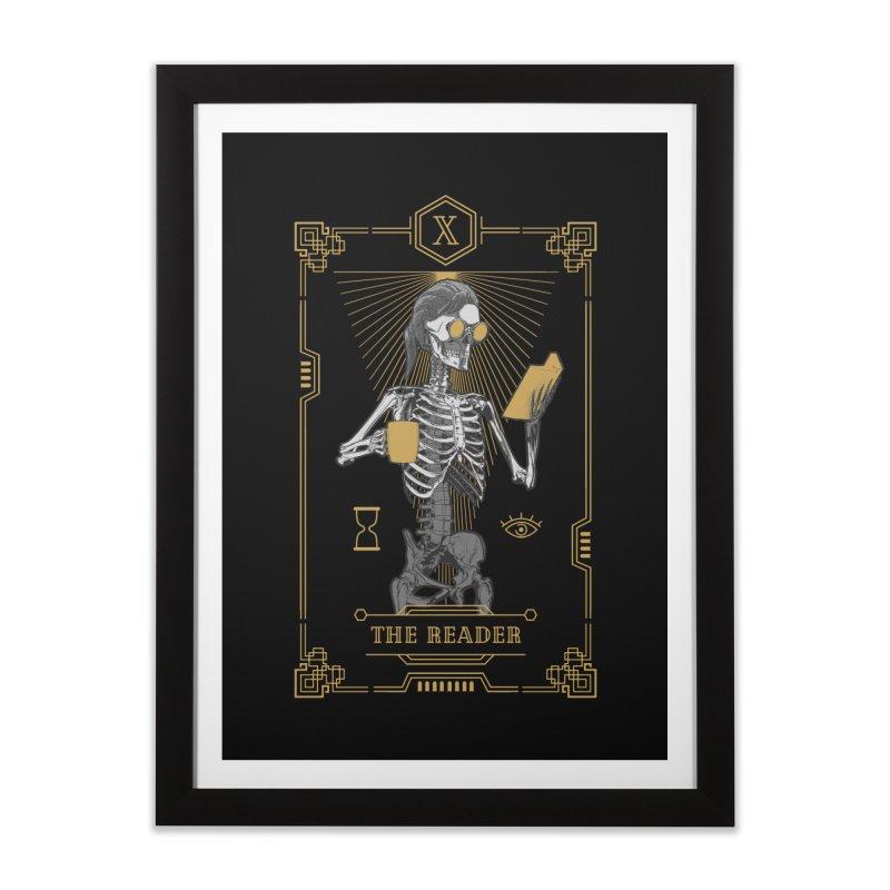 The Reader X Tarot Card Home Framed Fine Art Print by Grandio Design Artist Shop