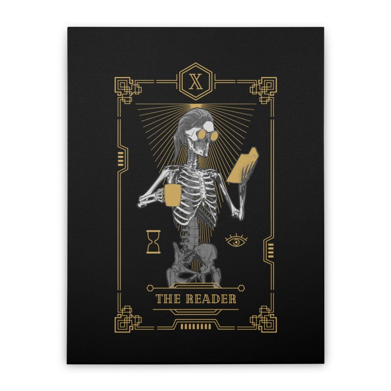 The Reader X Tarot Card Home Stretched Canvas by Grandio Design Artist Shop