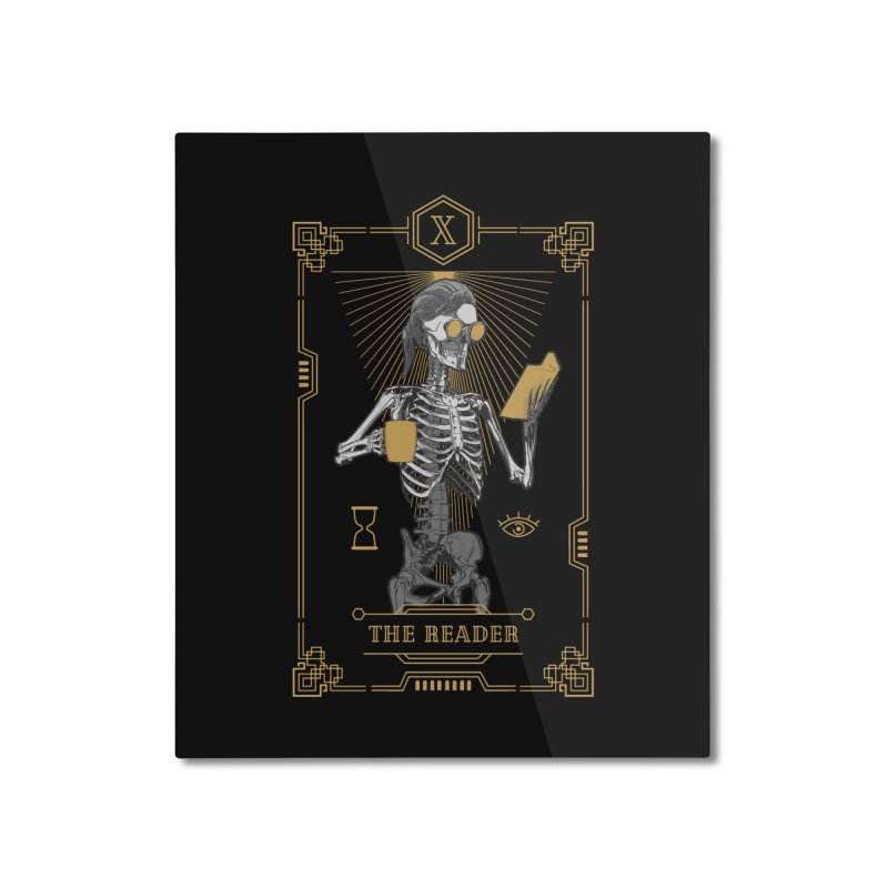 The Reader X Tarot Card Home Mounted Aluminum Print by Grandio Design Artist Shop