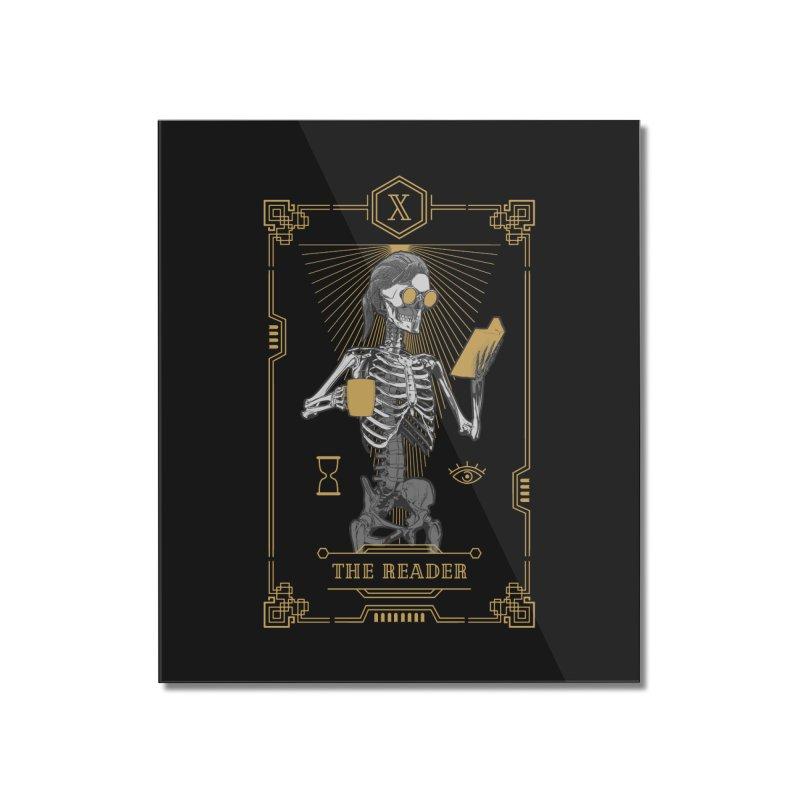 The Reader X Tarot Card Home Mounted Acrylic Print by Grandio Design Artist Shop