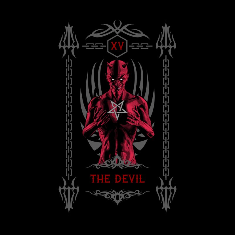 The Devil XV Tarot Card Men's Zip-Up Hoody by Grandio Design Artist Shop