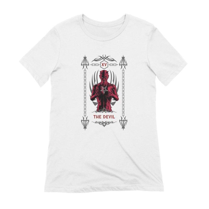 The Devil XV Tarot Card Women's Extra Soft T-Shirt by Grandio Design Artist Shop