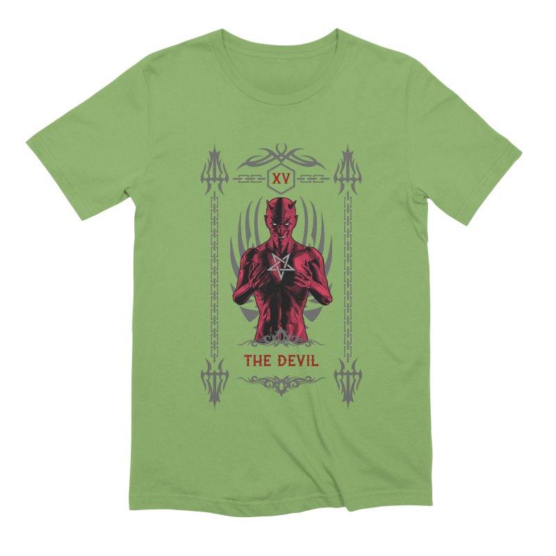 The Devil XV Tarot Card Men's Extra Soft T-Shirt by Grandio Design Artist Shop