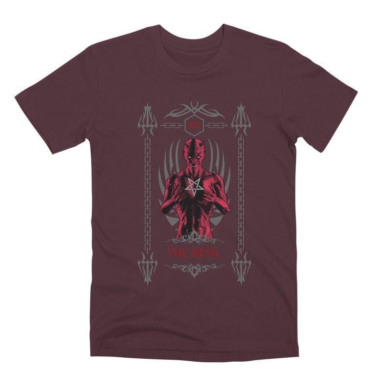 The Devil XV Tarot Card Men's Premium T-Shirt by Grandio Design Artist Shop