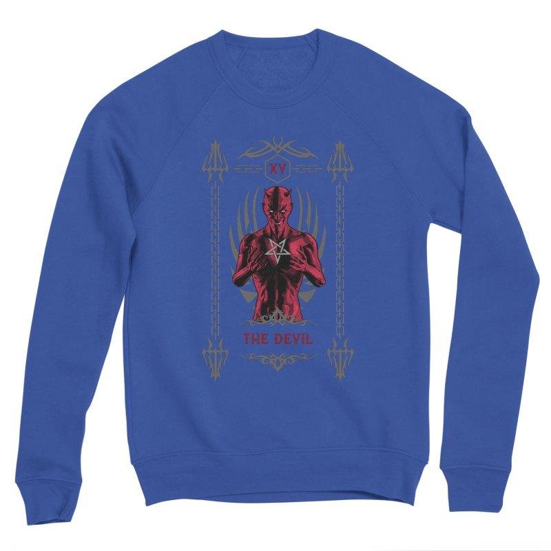 The Devil XV Tarot Card Men's Sponge Fleece Sweatshirt by Grandio Design Artist Shop