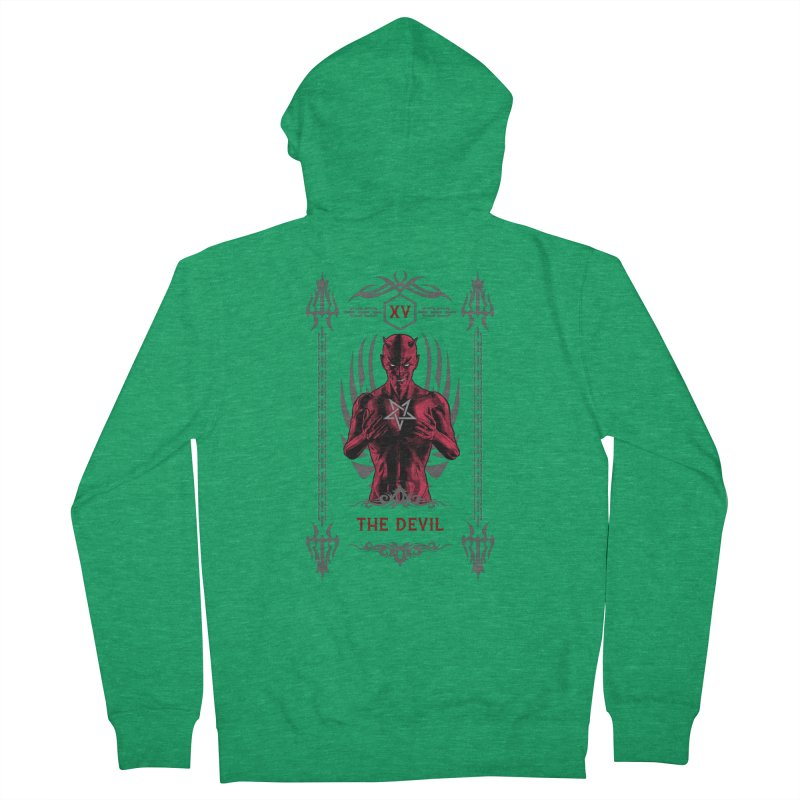 The Devil XV Tarot Card Women's Zip-Up Hoody by Grandio Design Artist Shop