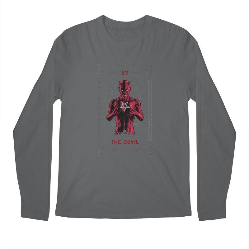 The Devil XV Tarot Card Men's Longsleeve T-Shirt by Grandio Design Artist Shop