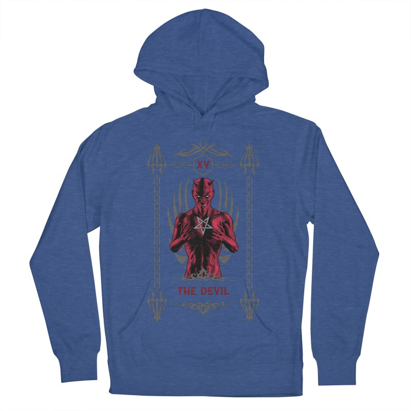 The Devil XV Tarot Card Women's French Terry Pullover Hoody by Grandio Design Artist Shop