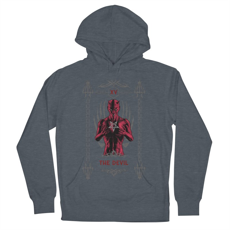 The Devil XV Tarot Card Men's French Terry Pullover Hoody by Grandio Design Artist Shop