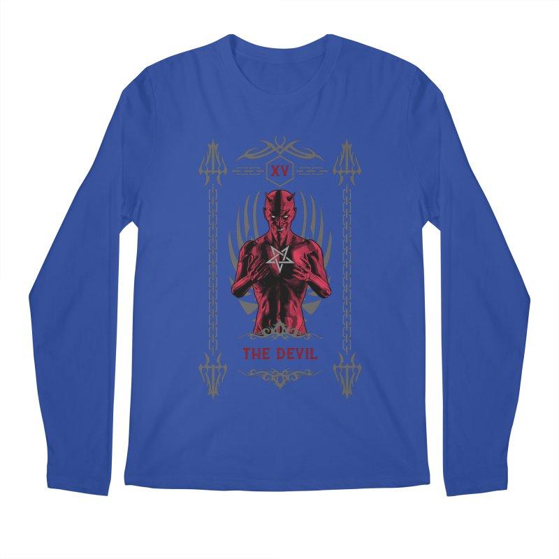 The Devil XV Tarot Card Men's Regular Longsleeve T-Shirt by Grandio Design Artist Shop