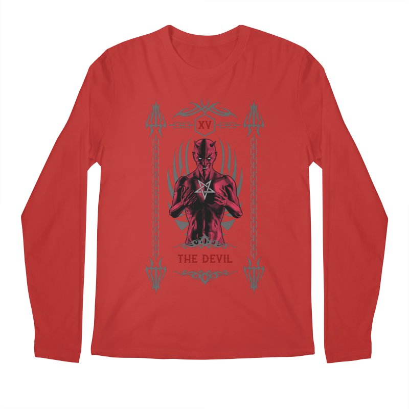 The Devil XV Tarot Card Men's Regular Longsleeve T-Shirt by Grandio Design Artist Shop