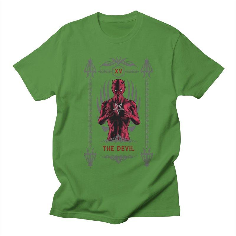 The Devil XV Tarot Card Women's Regular Unisex T-Shirt by Grandio Design Artist Shop