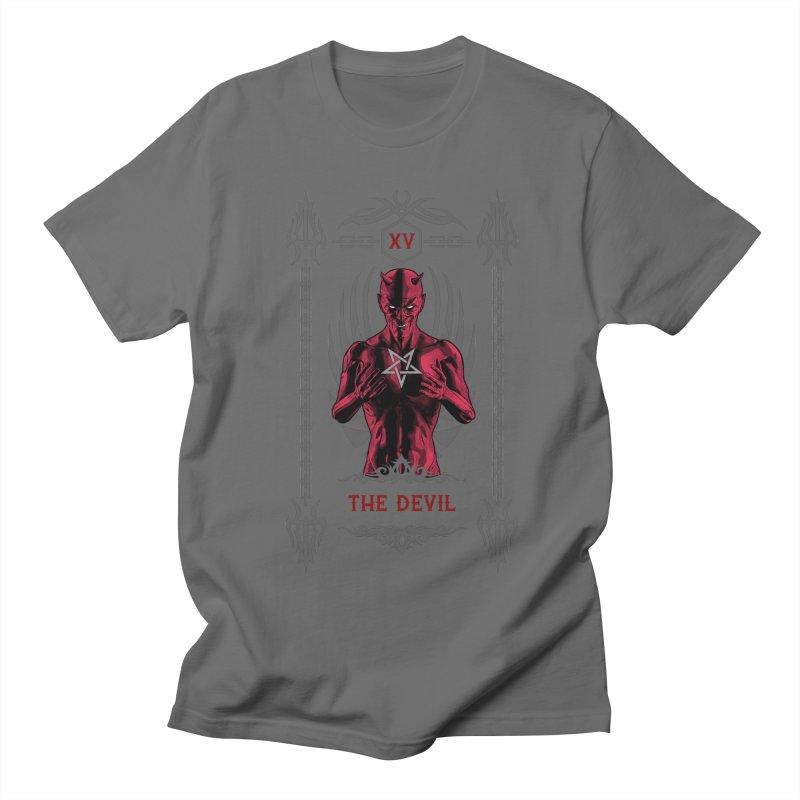 The Devil XV Tarot Card Men's T-Shirt by Grandio Design Artist Shop