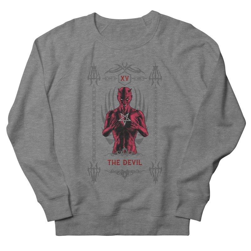 The Devil XV Tarot Card Women's French Terry Sweatshirt by Grandio Design Artist Shop