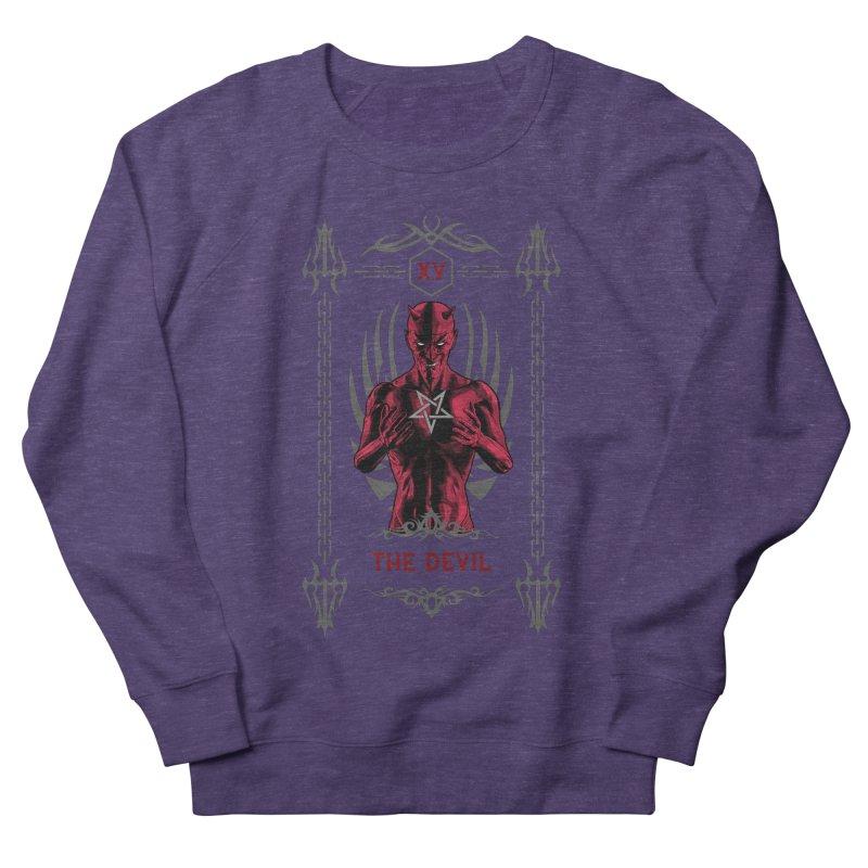 The Devil XV Tarot Card Men's French Terry Sweatshirt by Grandio Design Artist Shop