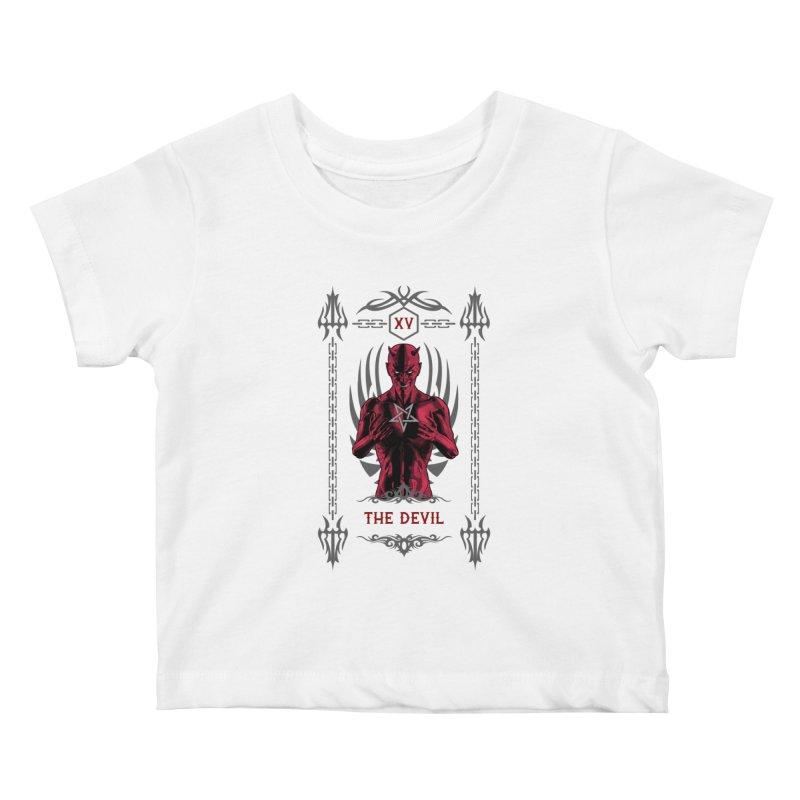 The Devil XV Tarot Card Kids Baby T-Shirt by Grandio Design Artist Shop