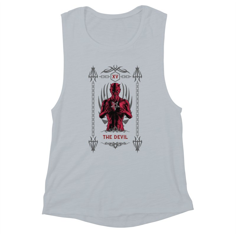 The Devil XV Tarot Card Women's Muscle Tank by Grandio Design Artist Shop
