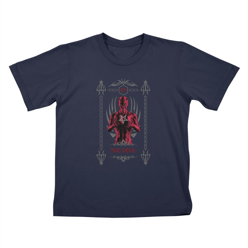 The Devil XV Tarot Card Kids T-Shirt by Grandio Design Artist Shop